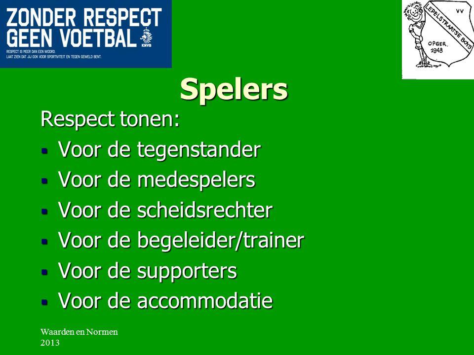 Leiders/Trainers/Begeleiders  Ontvangen van tegenstander en scheidsrechter  Niet roken tijdens trainingen, liefst ook niet bij wedstrijden  Kleedlo