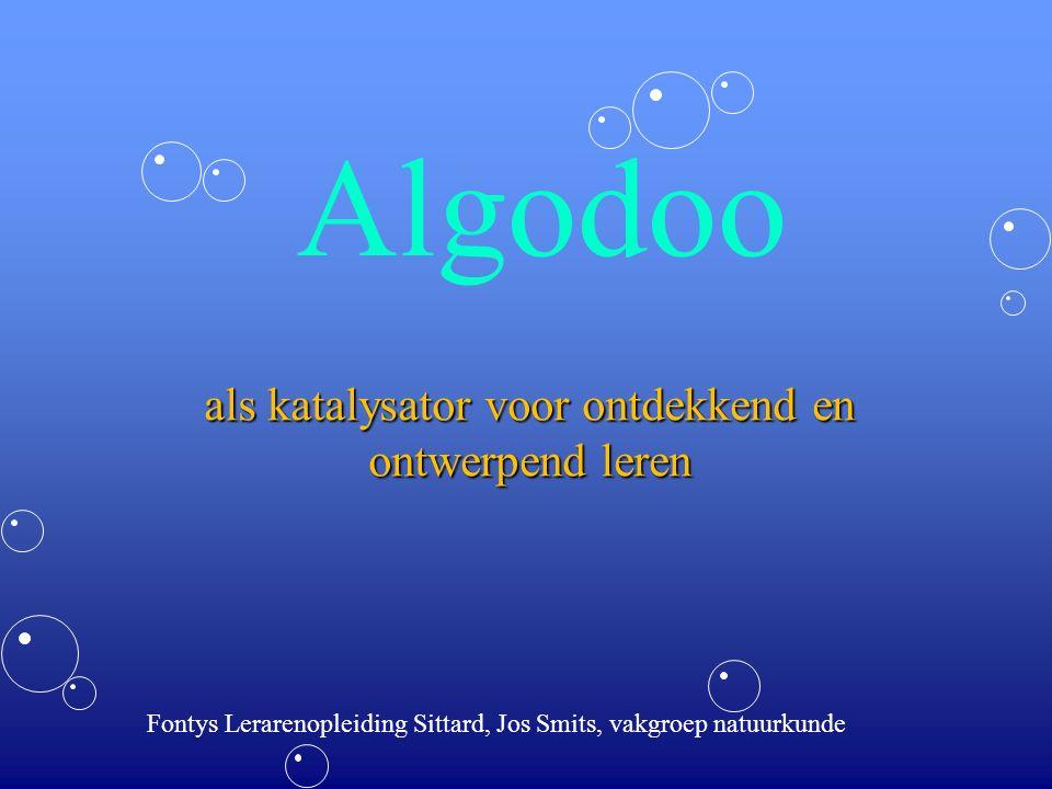 Algodoo als katalysator voor ontdekkend en ontwerpend leren Fontys Lerarenopleiding Sittard, Jos Smits, vakgroep natuurkunde