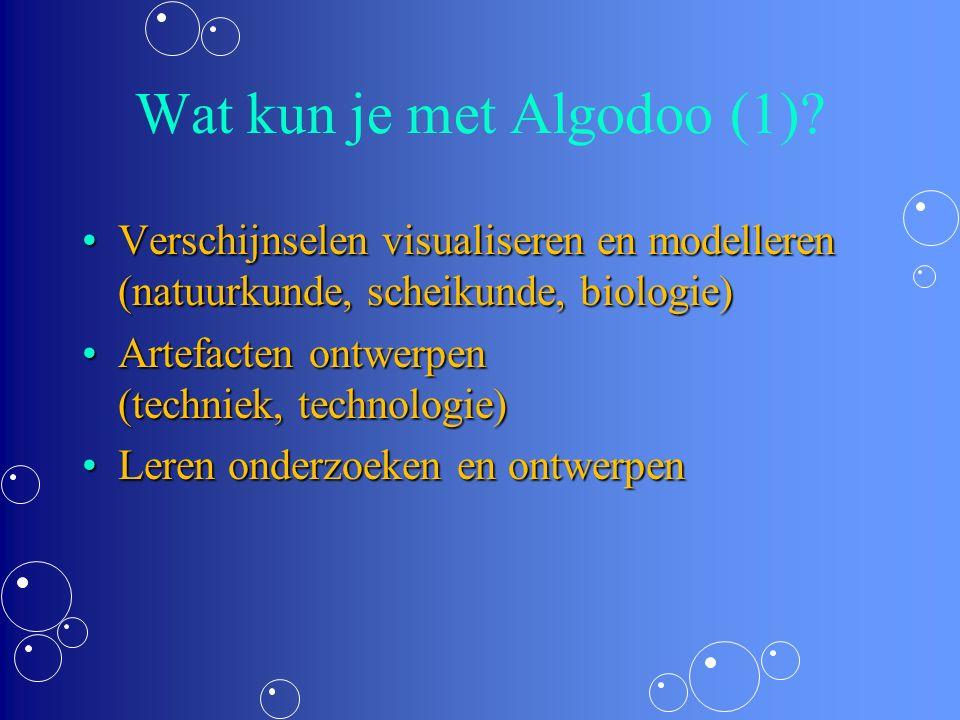 Wat kun je met Algodoo (2).