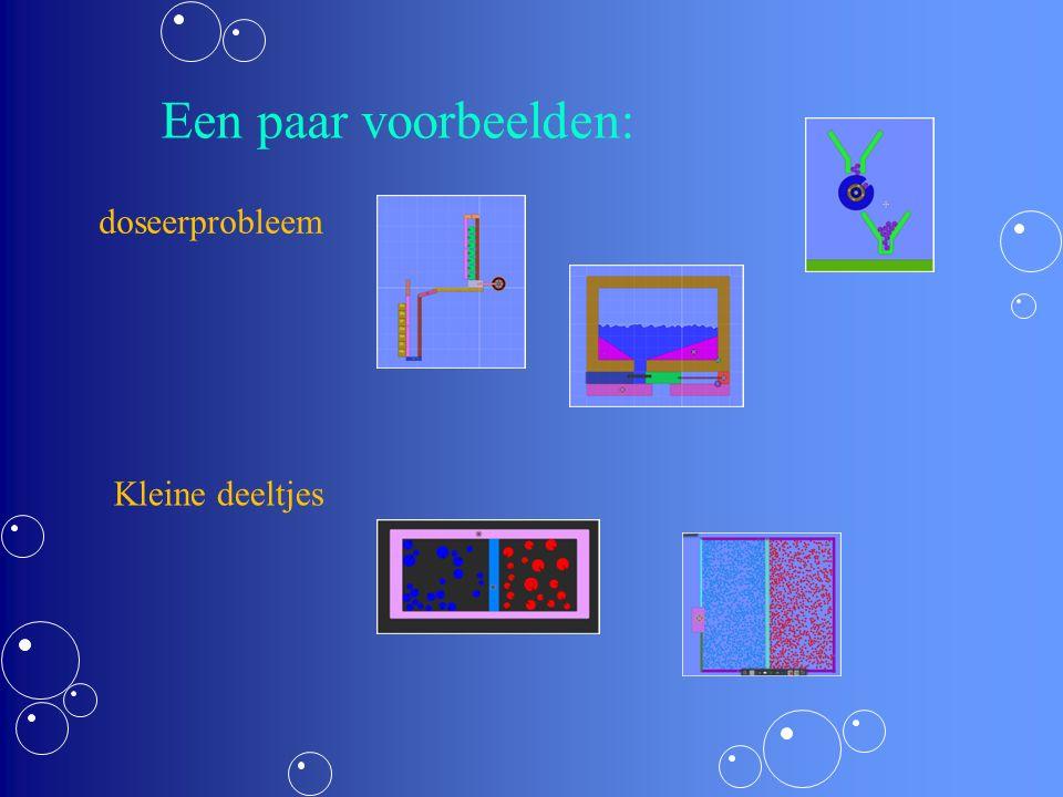 Een paar voorbeelden: doseerprobleem Kleine deeltjes