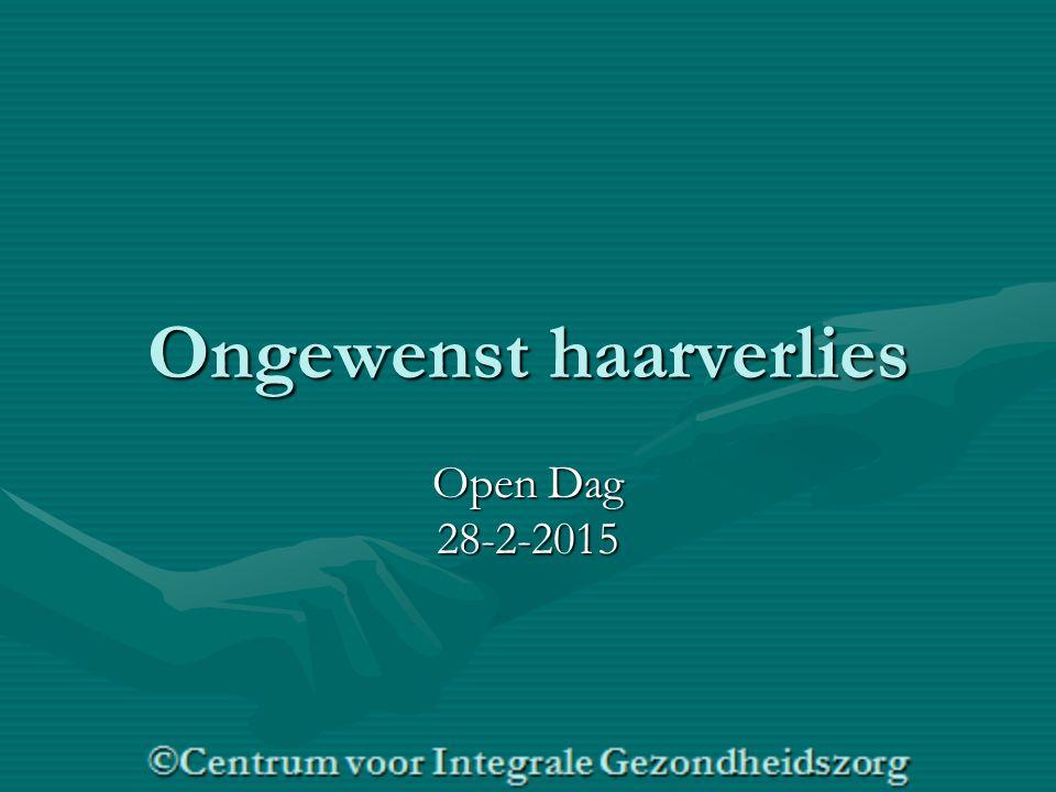 Ongewenst haarverlies Open Dag 28-2-2015