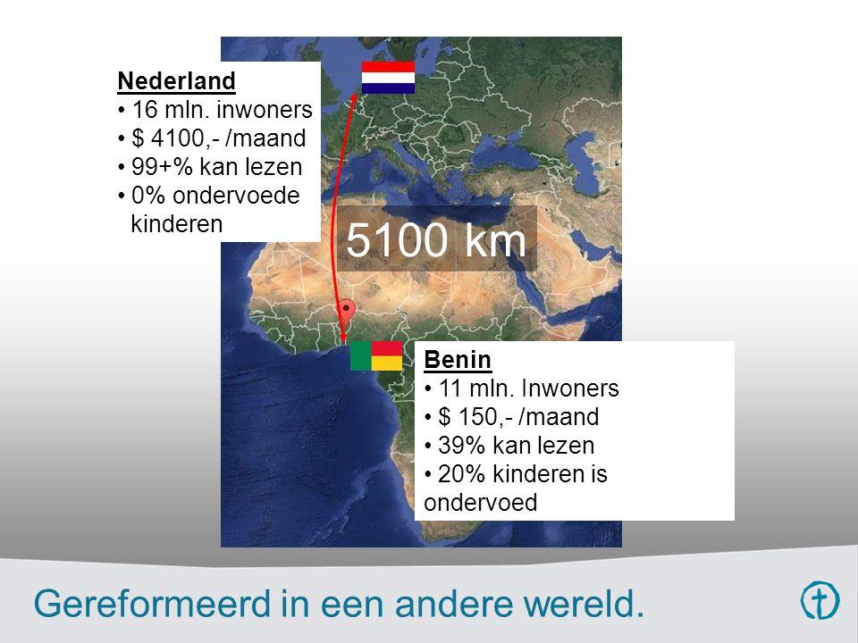 5100 km Nederland 16 mln.
