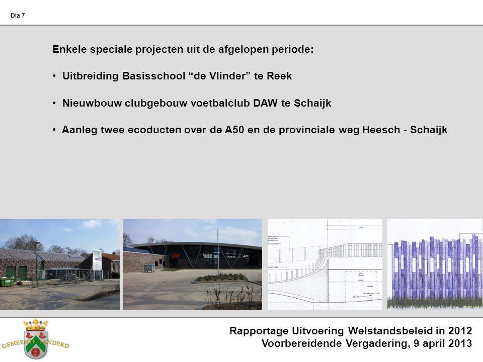 Rapportage Uitvoering Welstandsbeleid in 2012 Voorbereidende Vergadering, 9 april 2013 Dia 7 Enkele speciale projecten uit de afgelopen periode: Uitbr