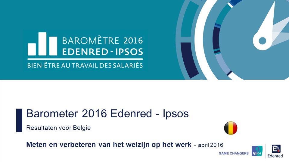 Barometer 2016 Edenred - Ipsos Resultaten voor België Meten en verbeteren van het welzijn op het werk - april 2016