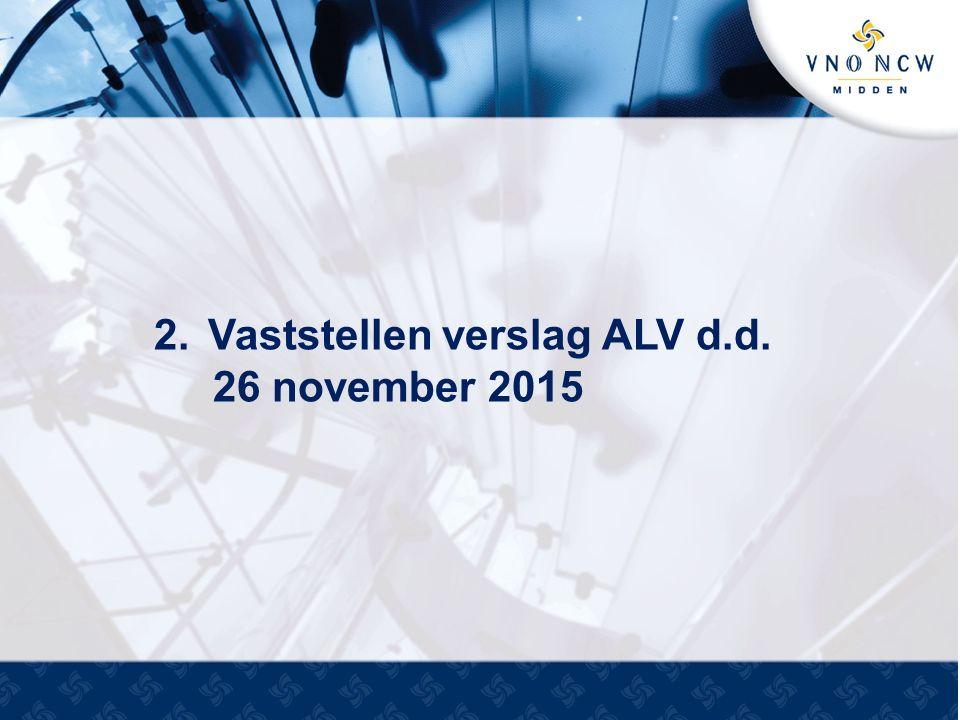 2.Vaststellen verslag ALV d.d. 26 november 2015