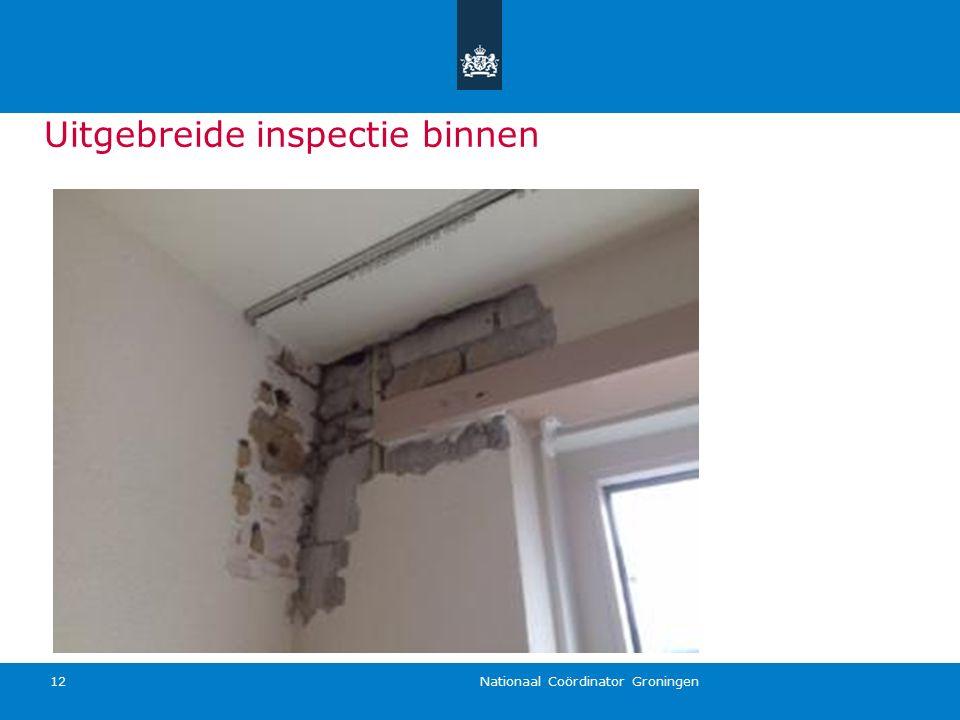 Nationaal Coördinator Groningen 12 Uitgebreide inspectie binnen
