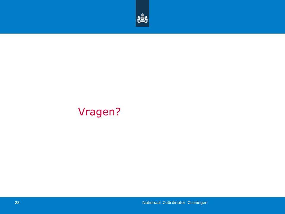 Nationaal Coördinator Groningen 23 Vragen?