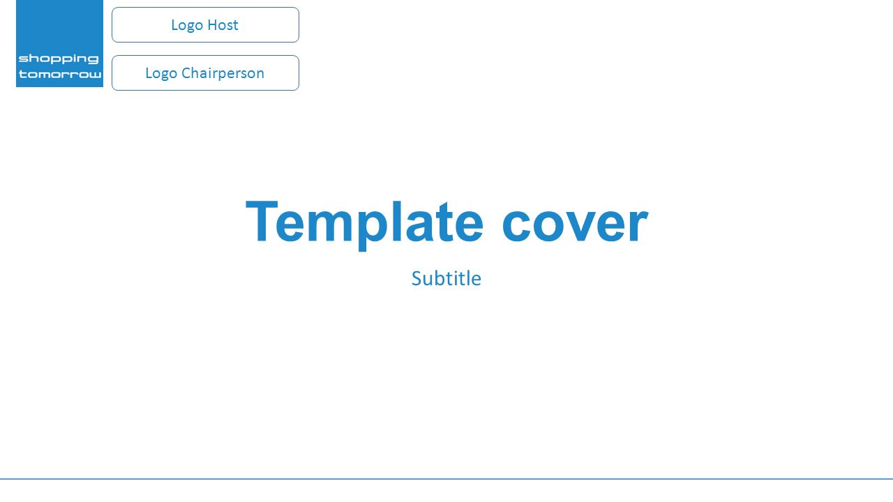 Template cover Subtitle Logo Host Logo Chairperson