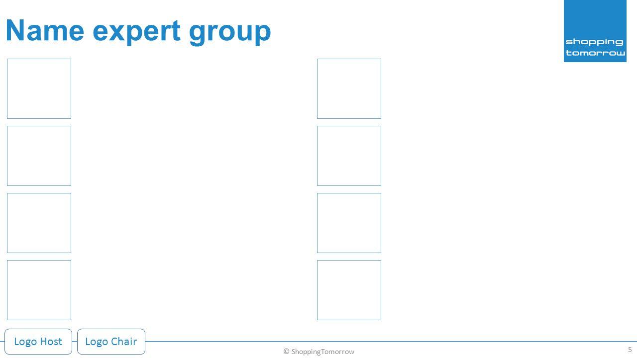 Name expert group 5 © ShoppingTomorrow Logo HostLogo Chair