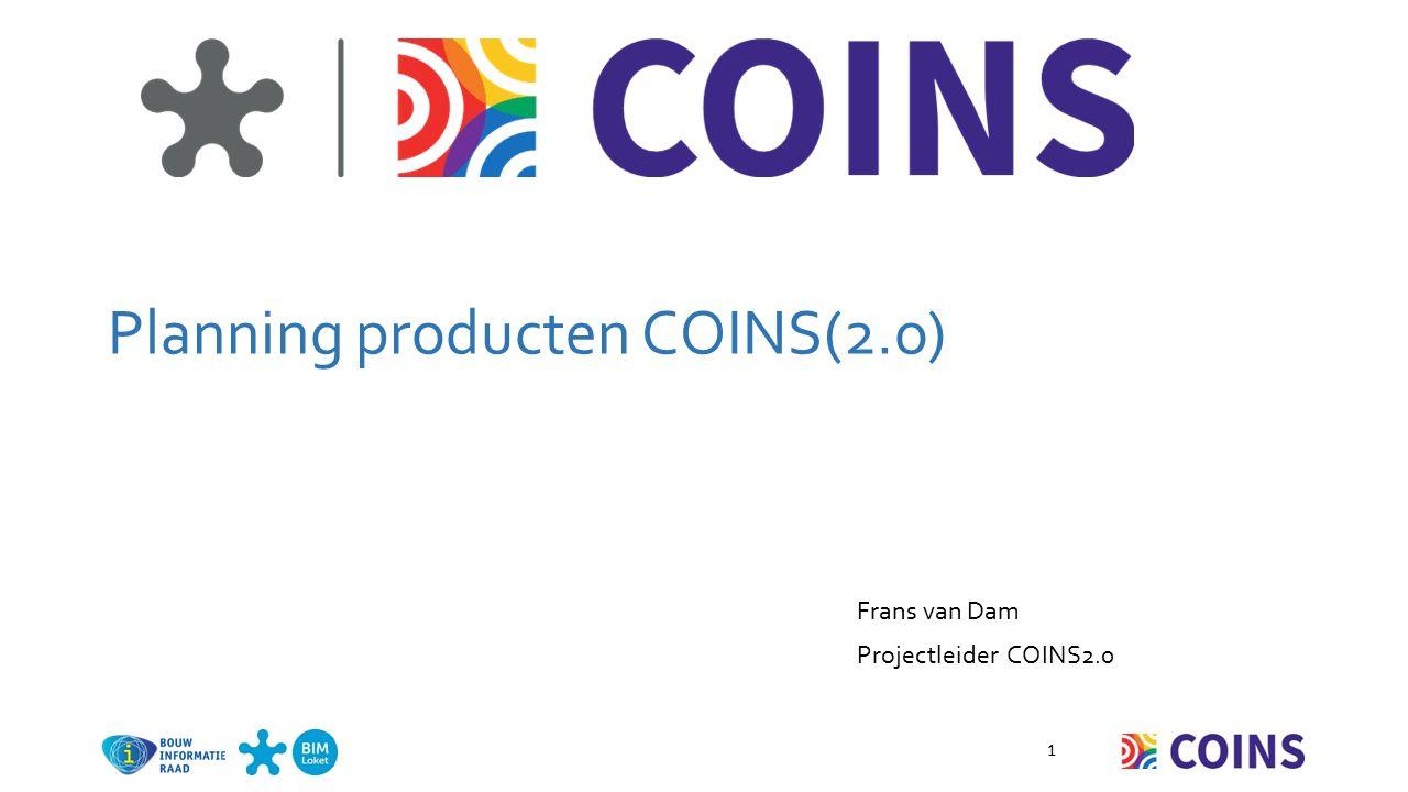 COINS2.0 op dit moment beschikbaar: COINS 2.0 vastgelegd in: o OWL schema o UML schema o Starters kit met voorbeelden o COINS2.0 Navigator Versie 1.0 Applicatie interface Aantal voorbeelden Presentaties tbv beginners en experts 2