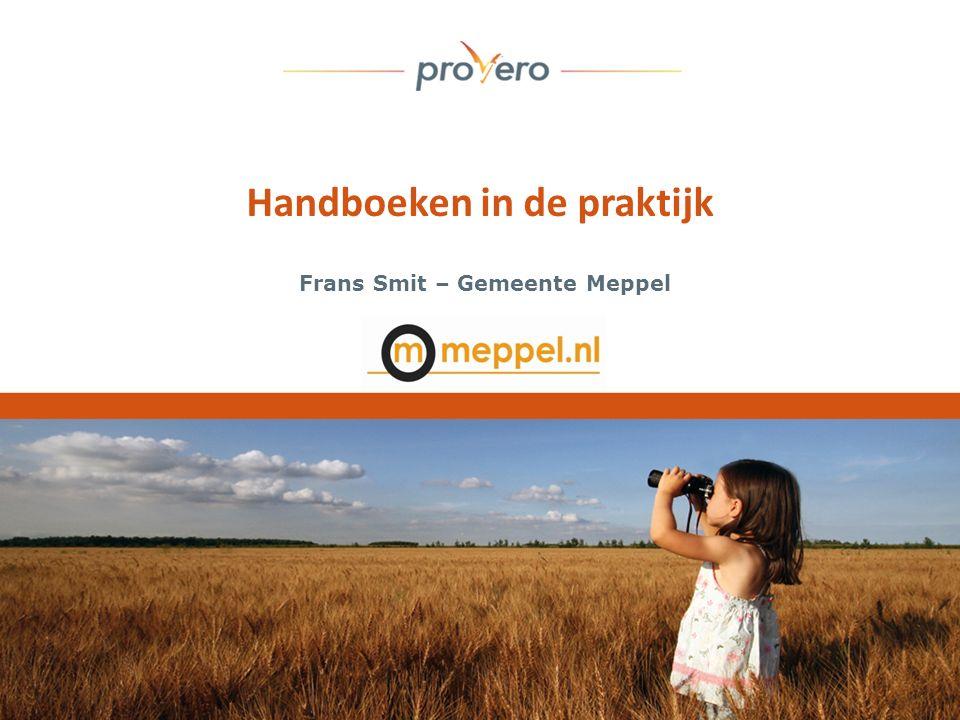 Handboeken in de praktijk Frans Smit – Gemeente Meppel