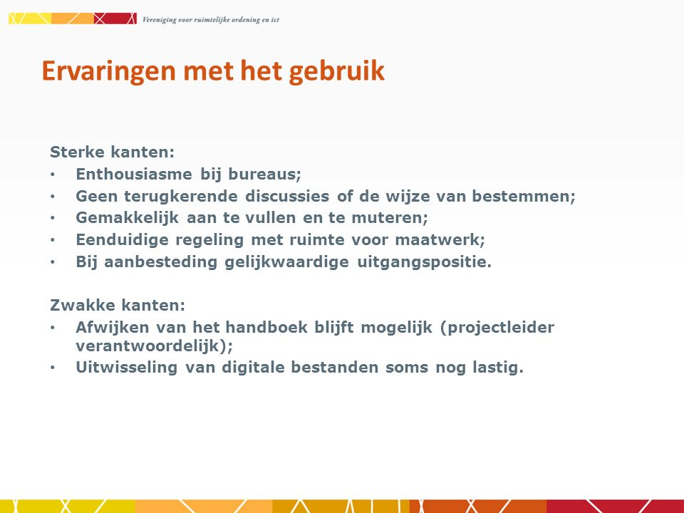 SVBP 2012; Reactienota's; Publicaties ruimtelijke plannen; Brieven. Recente wijzigingen