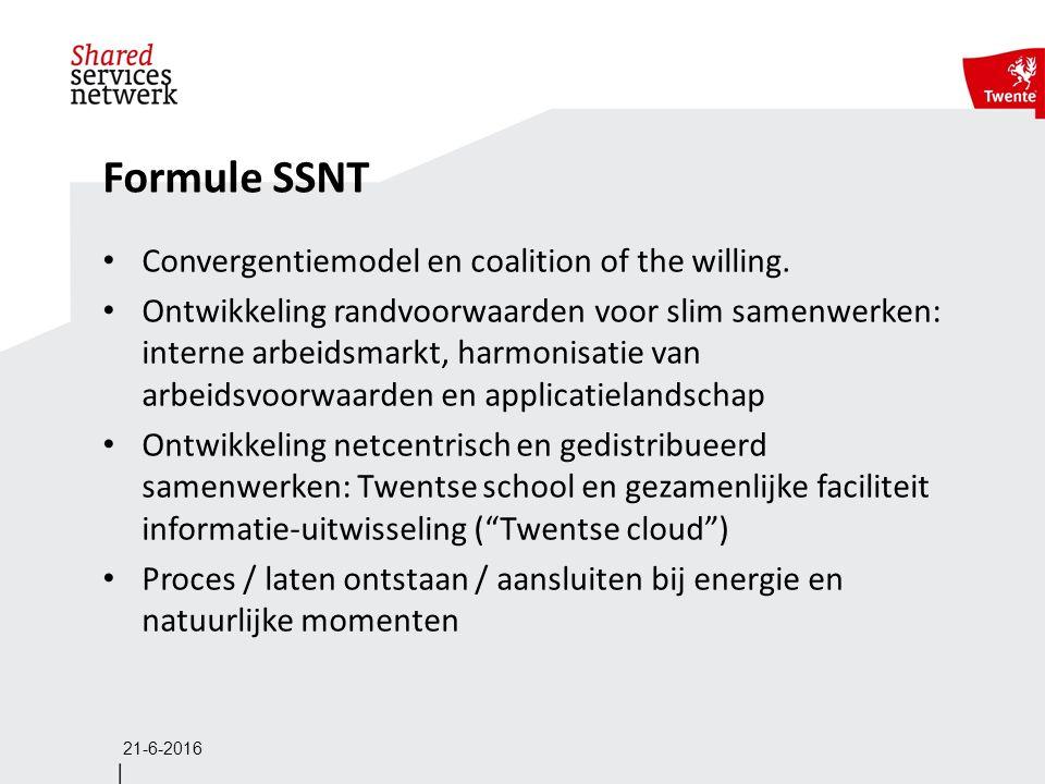 Formule SSNT Convergentiemodel en coalition of the willing. Ontwikkeling randvoorwaarden voor slim samenwerken: interne arbeidsmarkt, harmonisatie van