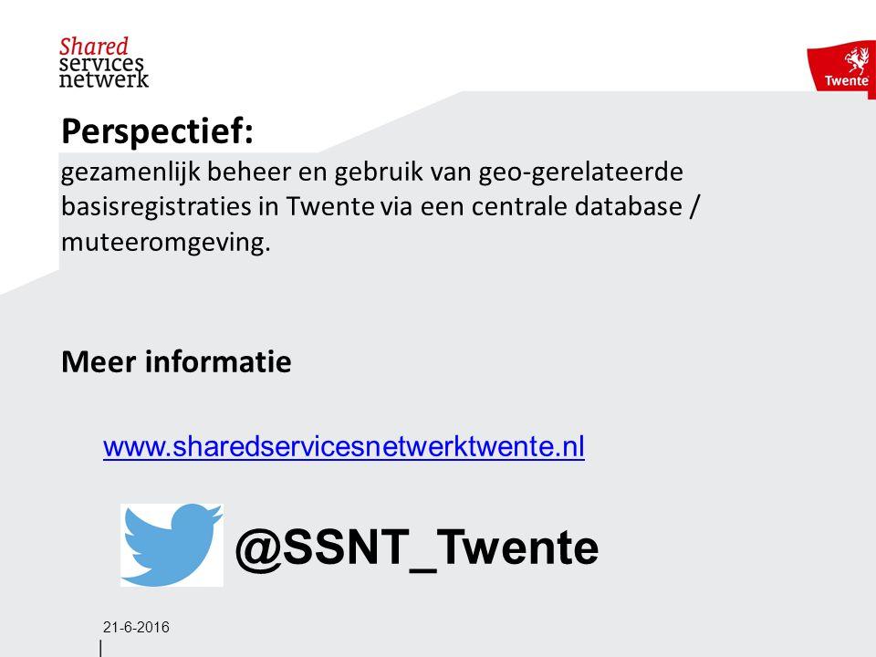 Perspectief: gezamenlijk beheer en gebruik van geo-gerelateerde basisregistraties in Twente via een centrale database / muteeromgeving.