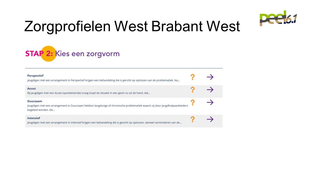 Zorgprofielen West Brabant West