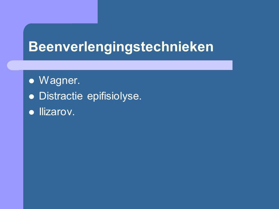 Beenverlengingstechnieken Wagner. Distractie epifisiolyse. Ilizarov.