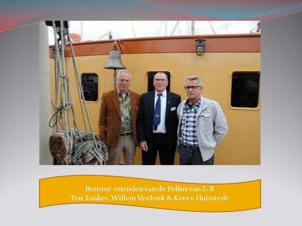Bestuur vrienden van de Pollux van L-R Ton Tonkes,Willem Verdonk & Kees v Huisstede