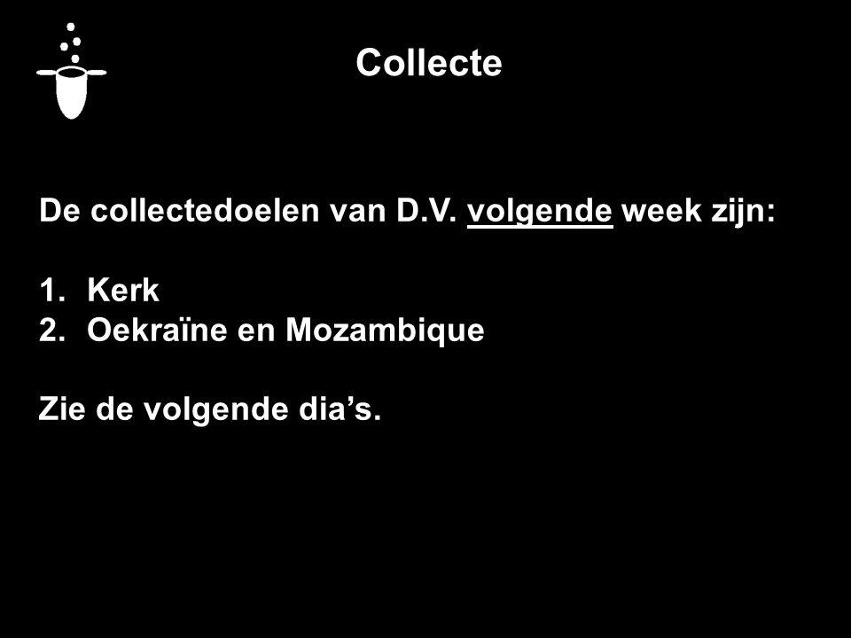 Collecte De collectedoelen van D.V.