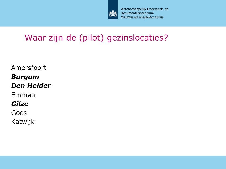 Belgische delegatie 30 maart 2016 Waar zijn de (pilot) gezinslocaties.