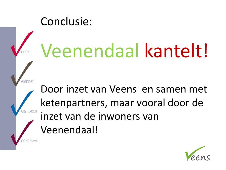 Conclusie: Veenendaal kantelt! Door inzet van Veens en samen met ketenpartners, maar vooral door de inzet van de inwoners van Veenendaal!