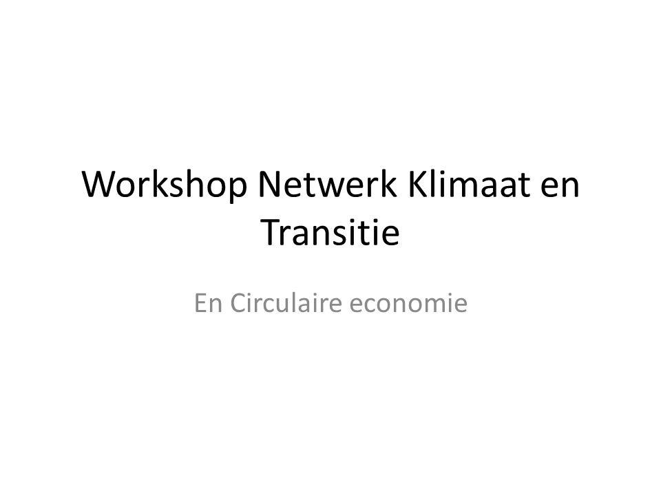 Workshop Netwerk Klimaat en Transitie En Circulaire economie