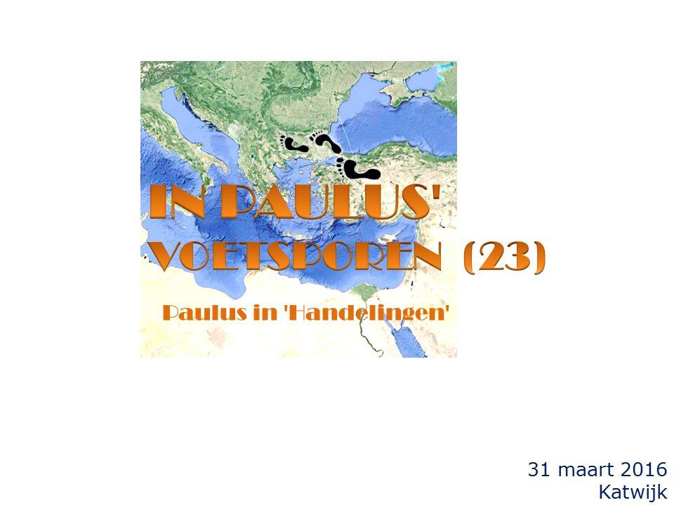 de vorige keer...  vanuit Athene (Hand.17) vertrekt Paulus naar Korinthe.