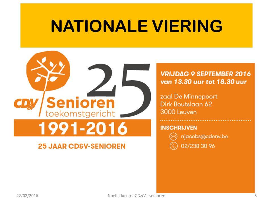 22/02/20164Noella Jacobs CD&V - senioren