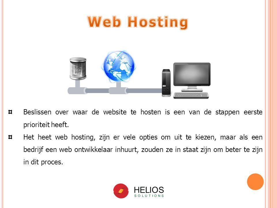 Beslissen over waar de website te hosten is een van de stappen eerste prioriteit heeft.