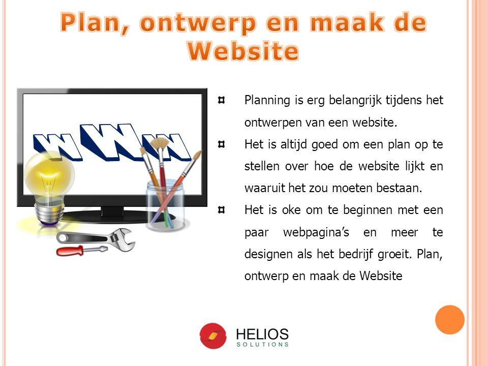 Planning is erg belangrijk tijdens het ontwerpen van een website.