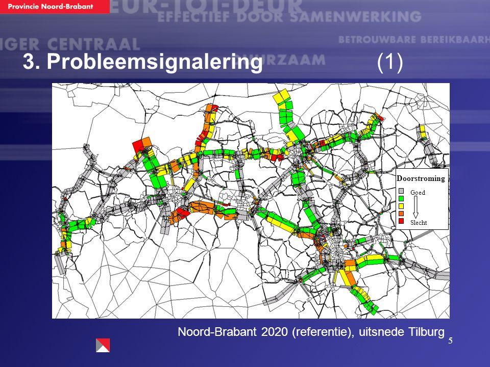 5 Noord-Brabant 2020 (referentie), uitsnede Tilburg Doorstroming Goed Slecht 3. Probleemsignalering (1)