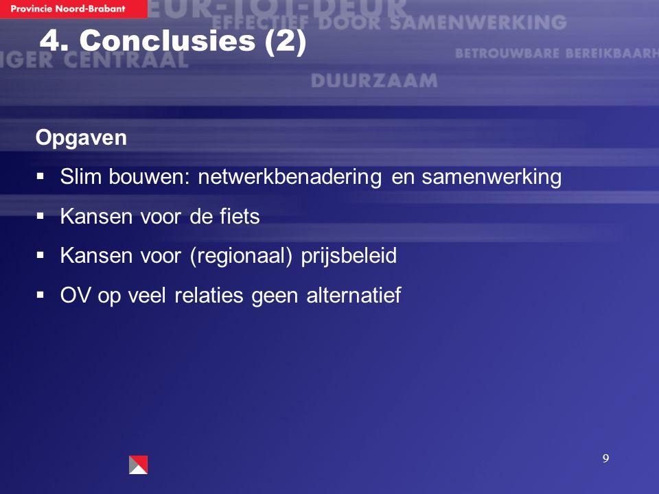 10 4.Conclusies (3) Betekenis voor Brabant.