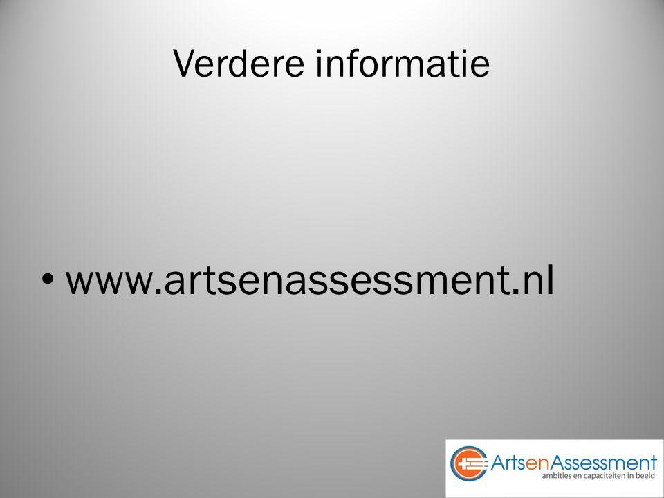 Verdere informatie www.artsenassessment.nl