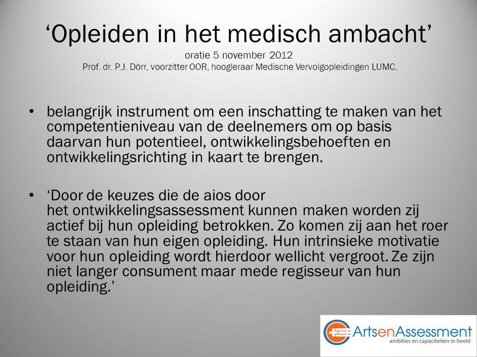 'Opleiden in het medisch ambacht' oratie 5 november 2012 Prof.