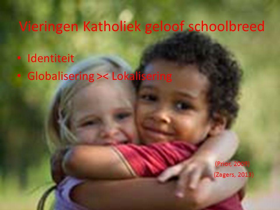 Vieringen Katholiek geloof schoolbreed Identiteit Globalisering >< Lokalisering (Prior, 2009) (Zagers, 2013)