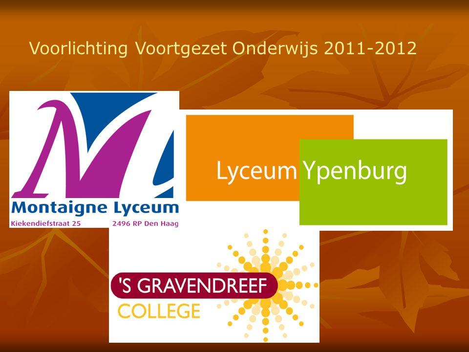 Voorlichting Voortgezet Onderwijs 2011-2012