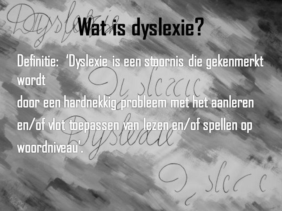 Dyslexie; meer dan problemen met spellen en lezen.