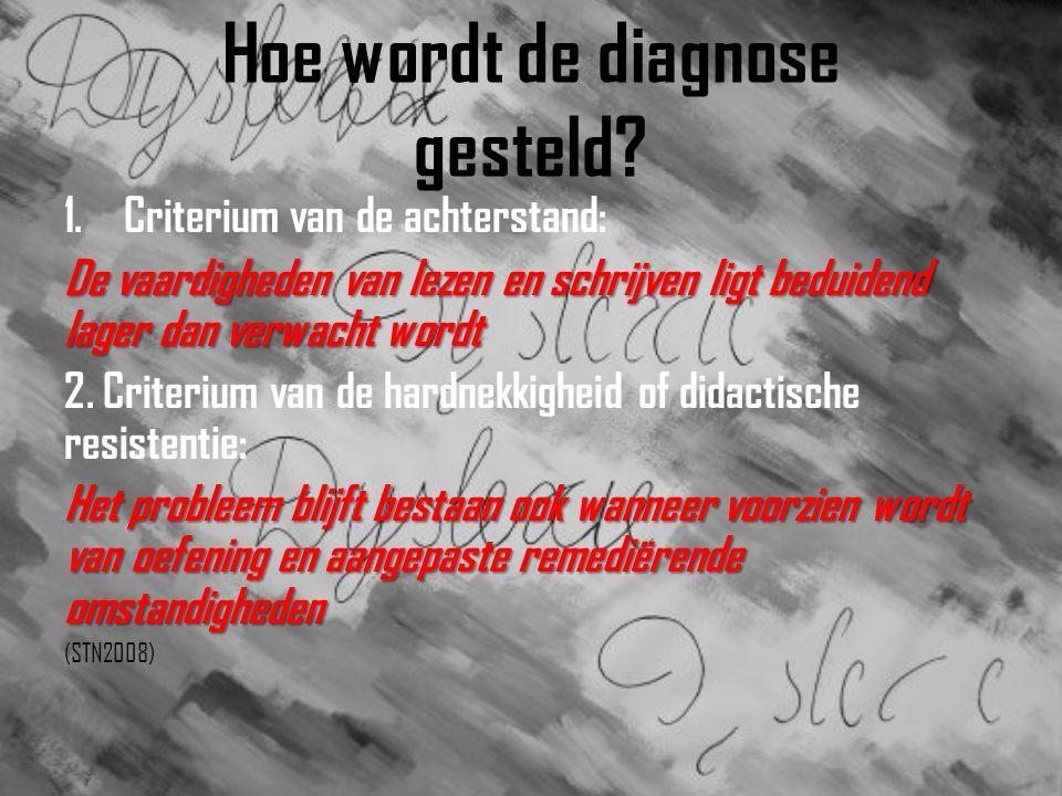 Hoe wordt de diagnose gesteld.