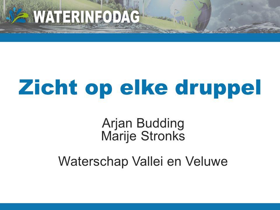 Zicht op elke druppel Arjan Budding Marije Stronks Waterschap Vallei en Veluwe
