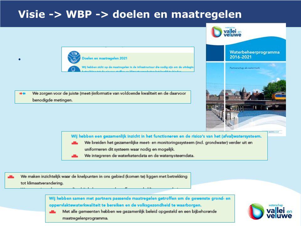 Visie -> WBP -> doelen en maatregelen