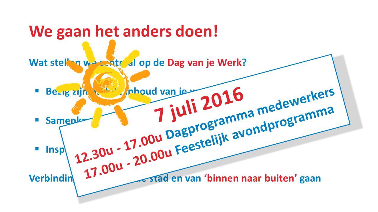 Een dagprogramma in Dordt Maar wel met de stad.