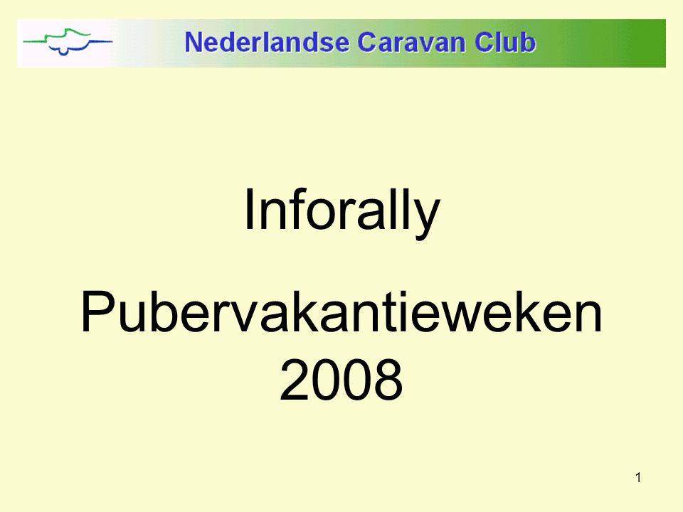 1 Inforally Pubervakantieweken 2008