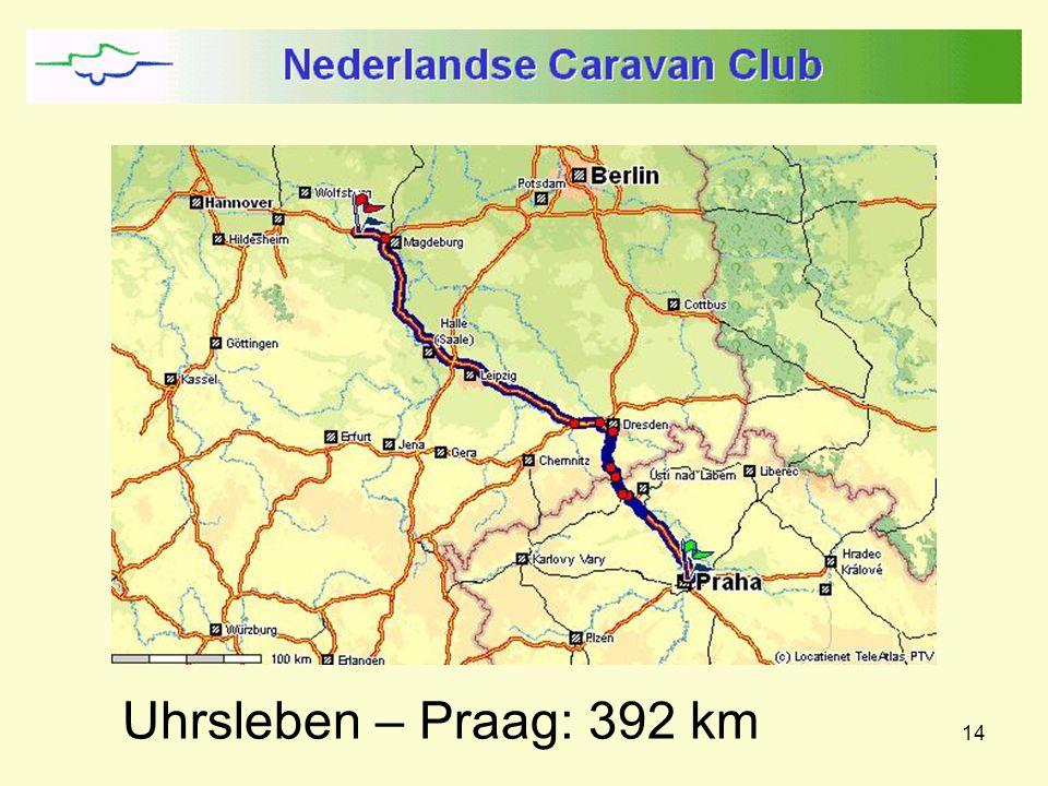 14 Uhrsleben – Praag: 392 km