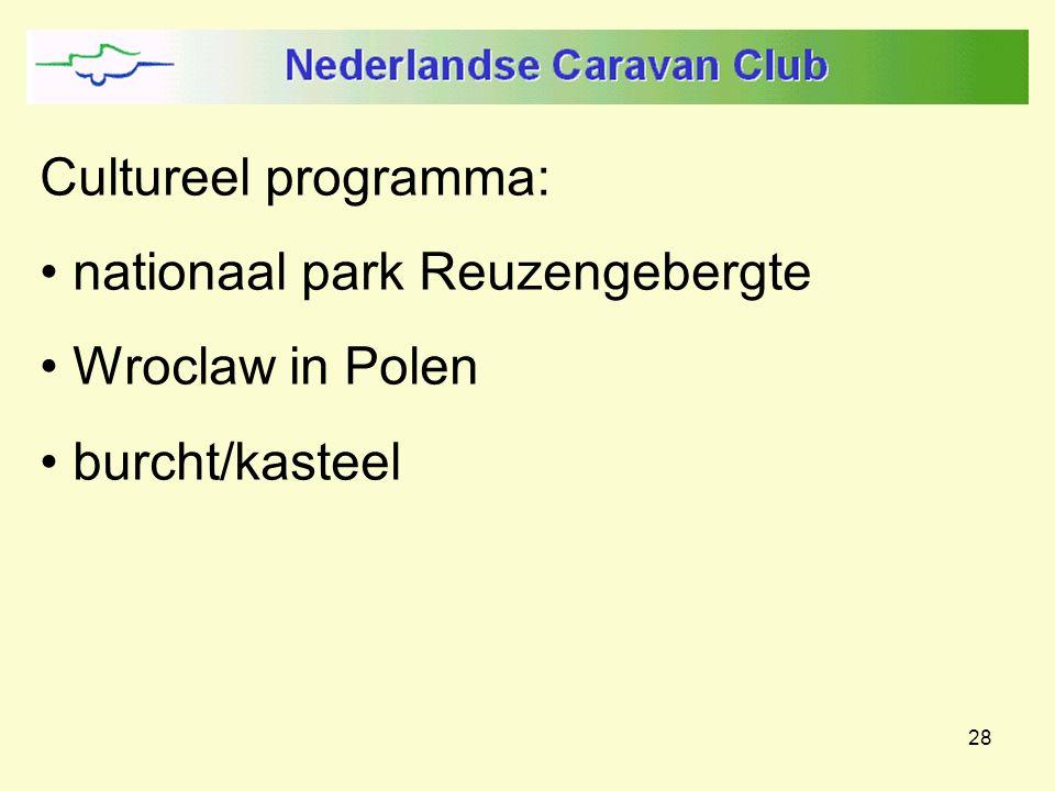 28 Cultureel programma: nationaal park Reuzengebergte Wroclaw in Polen burcht/kasteel