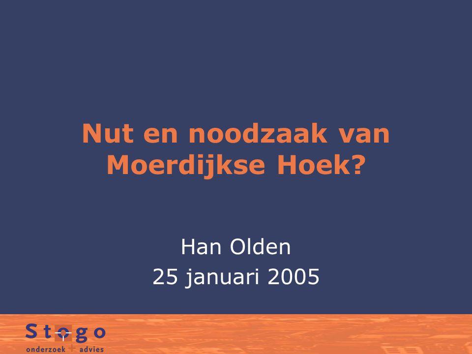 Nut en noodzaak van Moerdijkse Hoek? Han Olden 25 januari 2005