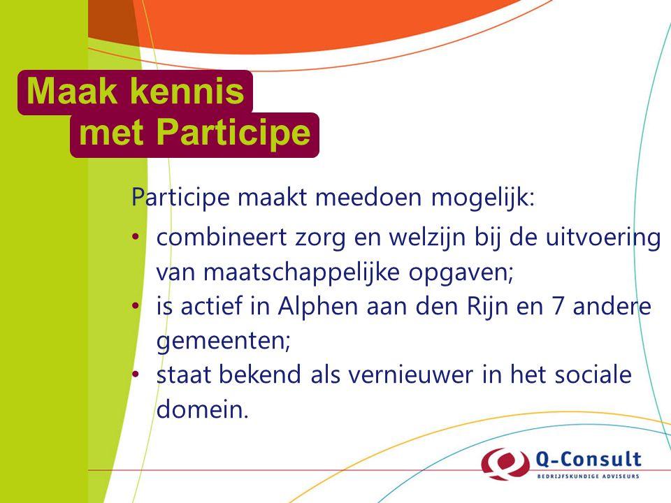 Voelbare financiële effecten Oude werkwijze: Kosten voor 24 klanten: € 46.532 Welzijn op recept: (bij 24 cliënten een geslaagde inzet) € 37.426 Besparing: € 9.106 besparing per huisarts; totaal Alphen 450.000