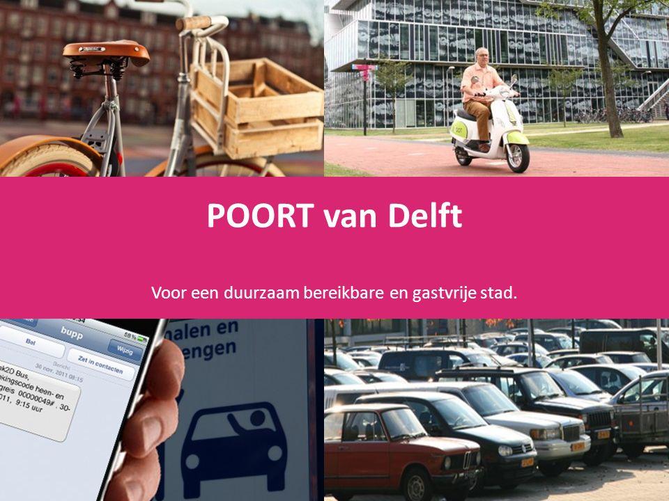 POORT van Delft Voor een duurzaam bereikbare en gastvrije stad.