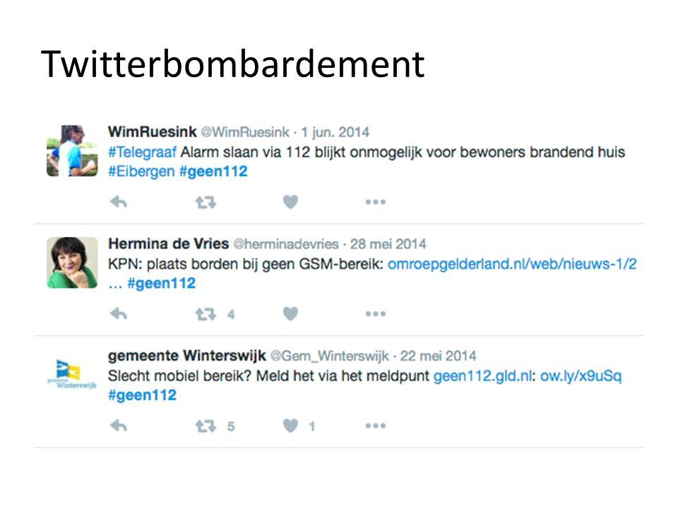 Twitterbombardement