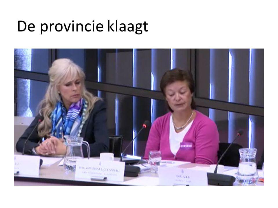 De provincie klaagt
