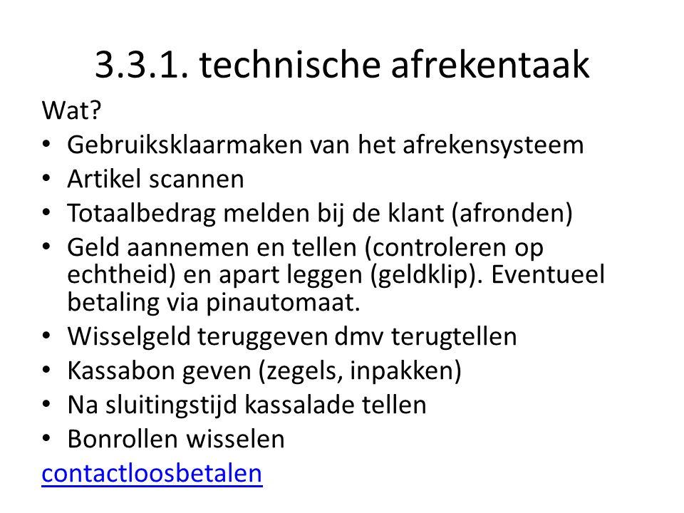 3.3.1. technische afrekentaak Wat.