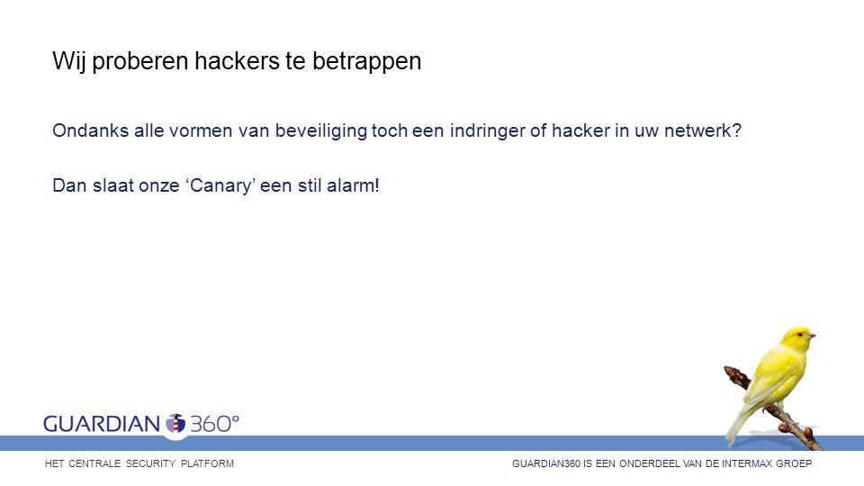 Wij proberen hackers te betrappen Ondanks alle vormen van beveiliging toch een indringer of hacker in uw netwerk.